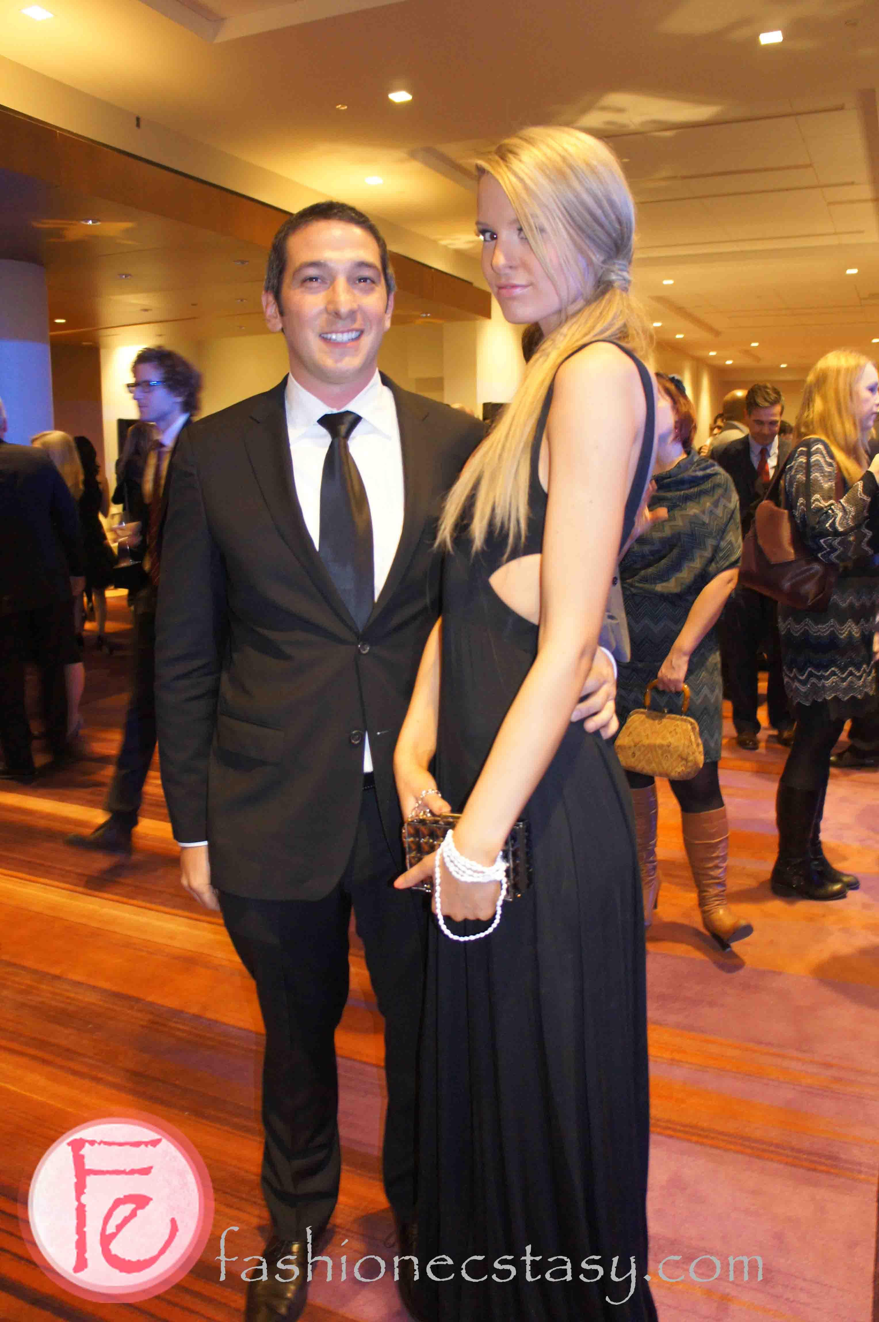 wearing: Hugo Boss (Left), Rachel Pally & BCBG (Right)