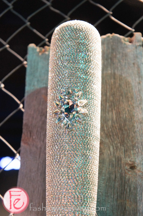 diamond covered artistic bat