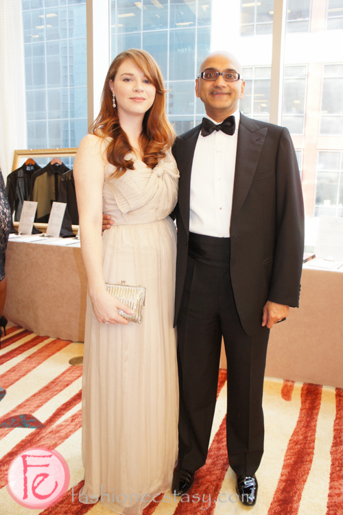 wearing Robert Rodriguez (left) and Brioni tuxedo (right)