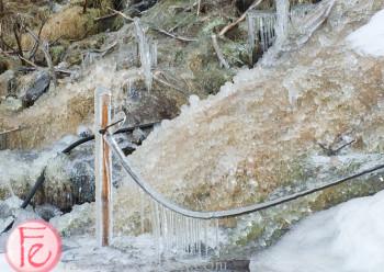 結冰的冰島塞里雅蘭瀑布 (frozen Seljalandsfoss waterfall, Iceland)