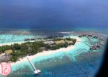bird's eye view of conrad maldives